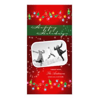 Sparkling Mini Christmas Ornaments Holiday Card Custom Photo Card
