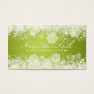 Sparkling Night Lime Green Professional Business Card