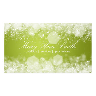 Sparkling Night Lime Green Professional Pack Of Standard Business Cards