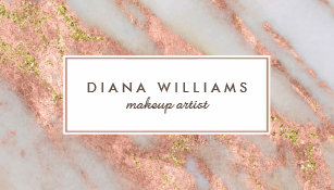 Makeup artist office school products zazzle sparkling pink marble abstract makeup artist business card reheart Images