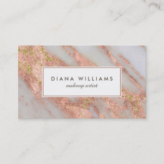 Custom business cards zazzle uk sparkling pink marble abstract makeup artist business card reheart Images