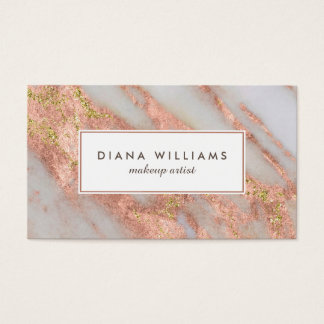 Sparkling Pink Marble Abstract Makeup Artist Pack Of Standard Business Cards