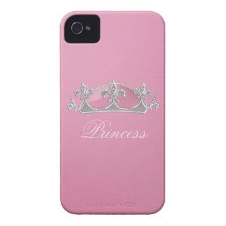 Sparkling Pink Princess Crown iPhone 4 Case