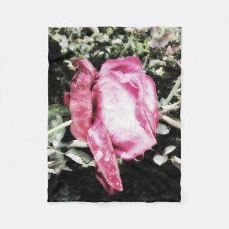 Sparkling Pink Rose Fleece Blanket