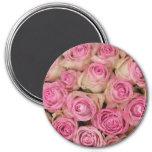 Sparkling pink roses by TheRoseGarden Refrigerator Magnet