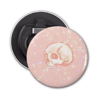 Sparkling Pink Skull Bottle Opener
