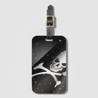 Sparkling Pirate Flag Luggage Tag
