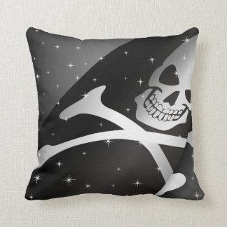 Sparkling Pirate Flag Throw Pillow