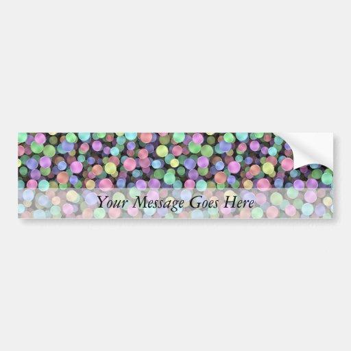 Sparkling Rainbow Polka Dots Bumper Sticker