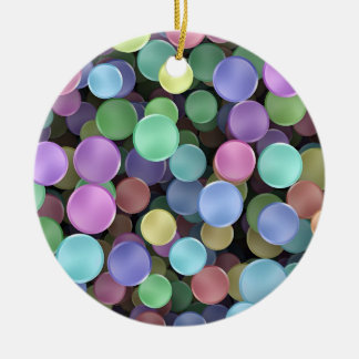 Sparkling Rainbow Polka Dots Christmas Ornament
