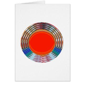 Sparkling RED Deco Emblem GIFTS emit ENERGY Cards