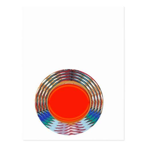 Sparkling RED Deco Emblem: GIFTS emit ENERGY Postcard