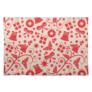 Sparkling Red Holiday Design Placemat