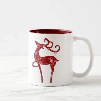 Sparkling Reindeer Christmas Mug