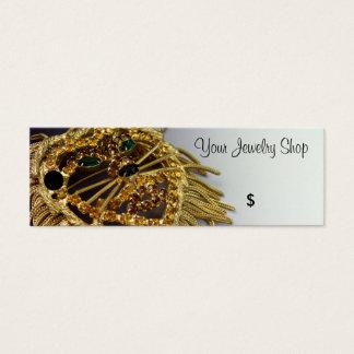 Sparkling Rhinestone Lion Jewelry Price Tags Mini Business Card