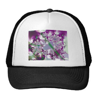 Sparkling Ribbons Abstract Fractal Design Hat