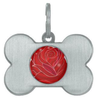 Sparkling rose pet tag
