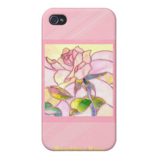 Sparkling Rose Romantic i Covers For iPhone 4