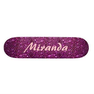 Sparkling sequins 21.3 cm mini skateboard deck
