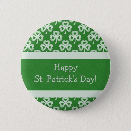 Sparkling Shamrocks Button