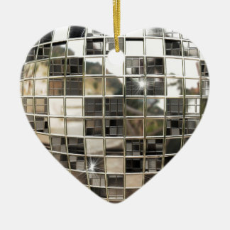 Sparkling Silver Disco Ornament
