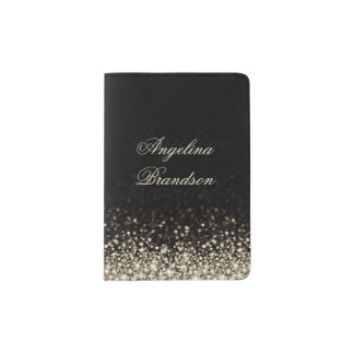 Sparkling Silver Star Design Passport Holder