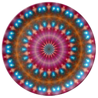 Sparkling soul music (red-orange-turquoise) plate