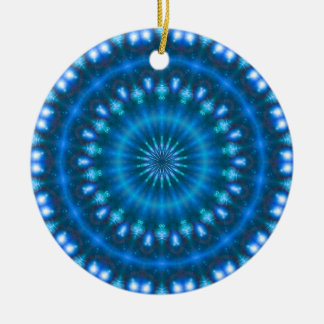 Sparkling soul music (sapphire-electric-sky) christmas ornament