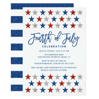 Sparkling Stars | Fourth of July Party Invitation