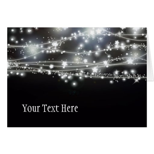 Sparkling Stars greeting Card