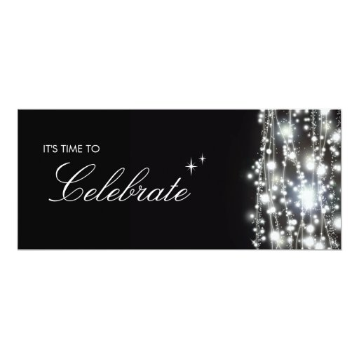 "Sparkling Stars Invitation 4"" X 9.25"" Invitation Card"