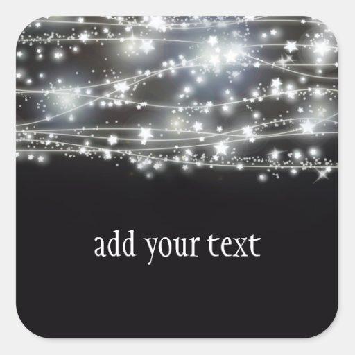 Sparkling Stars Square Sticker