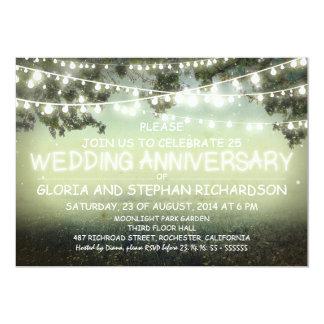 sparkling string lights wedding anniversary INVITE
