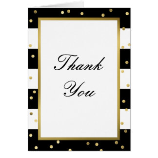 Sparkling Stripes | Elegant Thank You Card