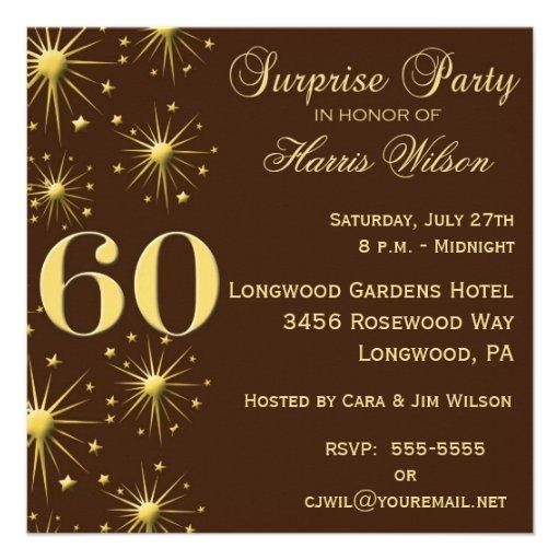 Sparkling Surprise 60th Birthday Invitations