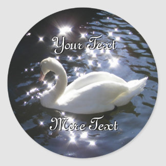 Sparkling Swan Stickers