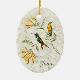 Sparkling Tailed Hummingbird Christmas Ornament