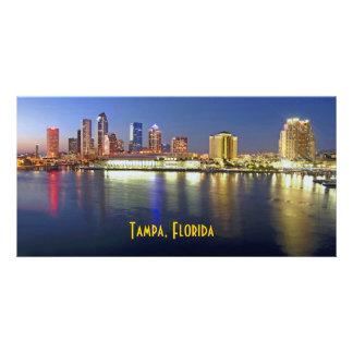 Sparkling Tampa Bay at dusk Photo Cards