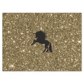 sparkling unicorn golden tissue paper