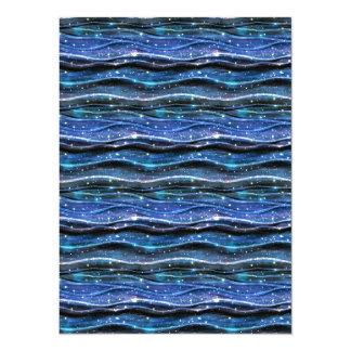 Sparkling Waves 14 Cm X 19 Cm Invitation Card