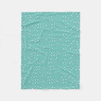 Sparkling Winter Christmas Pattern Blanket
