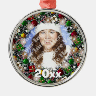 Sparkling Wreath Photo Frame Keepsake Ornament