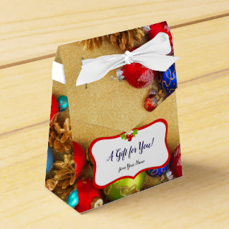 Sparklng Christmas Baubles and Balls Christmas Art Favour Box