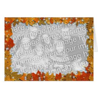 Sparkly Autumn Leaves Card