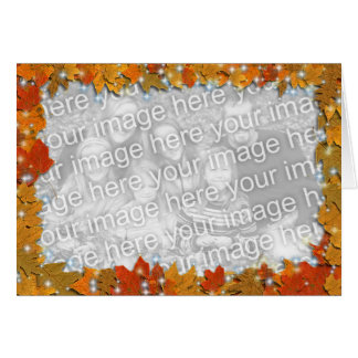 Sparkly Autumn Leaves Greeting Card