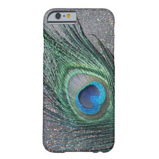 Sparkly Black Peacock Feather Still Life iPhone 6 Case