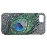 Sparkly Black Peacock Feather Still Life Tough iPhone 5 Case
