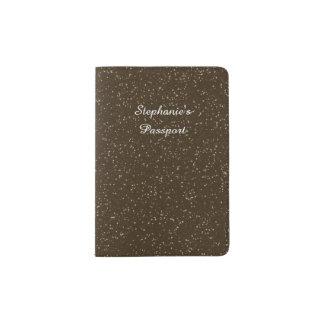 Sparkly Black & Silver Glitter Passport Holder