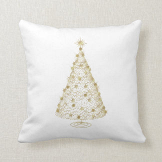 Sparkly christmas tree cushion