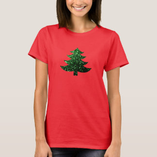 Sparkly Christmas tree green sparkles T-Shirt